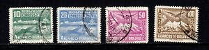 Bolivia stamps #C82 - 85, used, complete BOB set, SCV $18.00