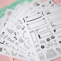 12 Sheets Paper Sticker DIY Photo Album Scrapbook Calendar Diary Planner Decor #