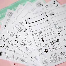 12 Sheets DIY Kawaii Calendar Photo Paper Sticker Scrapbook Diary Planner  UKPL