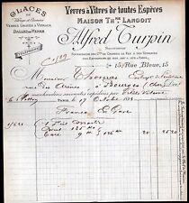 """PARIS (IX°) VERRES à VITRES / VITRAUX """"Th. LANGOIT / Alfred TURPIN"""" en 1899"""