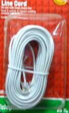 140098-00 25 ft. L White Modular Telephone Line Cable