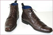 KENZO Bottines Boots Homme Cuir Marron Foncé T 9 / T 42.5 TBE
