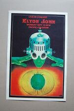 Elton John Concert Tour Poster 1973 Pacific Coliseum