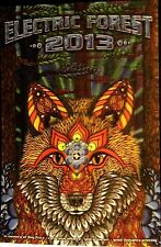 RARE 3D Lenticular Poster  Psychedelic Fox By Phil Lewis Electric Forest 2013