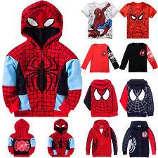 Kids Boys Spiderman Clothes T-shirt Hoodies Sweatshirt Jumper Tee Tops Jacket