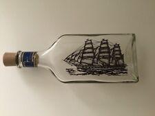 Vtg Avon Captain's Pride Oland After Shave Clipper Ship Etched Bottle 6 oz Empty