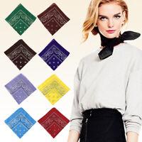 Packung mit 12 Paisley Bandana bedruckten quadratischen Schals Armband Stirnband