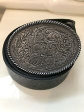 St George by Duffer western style real leather cow boy belt size 34-36 waist
