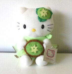 Sanrio Hello Kitty Soft Plush Stuffed Toy Doll - Kiwi Kitty with Kiwi -20cm High