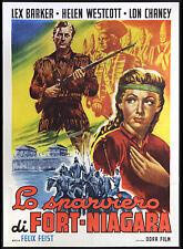 CINEMA-manifesto LO SPARVIERO DI FORT-NIAGARA lex barker,westcott;FEIST