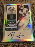 2015 Panini Contenders Championship Ticket /99 Dezmin Lewis Silver Rookie Auto