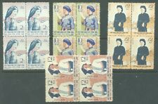 More details for north vietnam 1960 costumes sg.n124-7 set of 4 in mnh blocks of 4