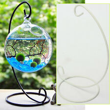 "9"" iron hanging stand rack glass globe wedding gift candle ornament holder"
