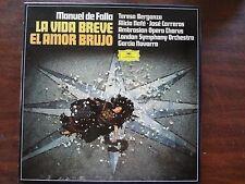 Manuel de Falla La Vida Breve Aria - Berganza, Nafe, Carreras 2-LP Box 1978