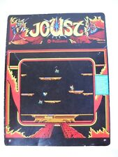 """USED TIN SIGN """"Joust""""Arcade Console Game Room WallMetal Decor"""