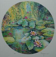 RAGARU Alain : Les Nymphéas de Monet - LITHOGRAPHIE originale signée