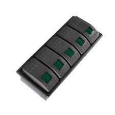 5 X KFZ Wasserdicht 12V 20A Wippschalter Kippschalter Beleuchtet 4P Grün
