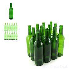 12 Empty Green Wine Bottles Home Making DIY Liquid Water Beverage 750 ml Collect