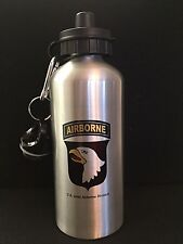 US WW2 101st AIRBORNE-Water Bottle-Aluminum-Silver Finish-20 oz/600 ml-WWII-New