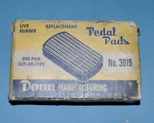 1949-50 Lincoln Mercury Clutch and Brake Pedal Pads Pair NORS Doan 3019 8M2457