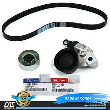 V-Ribbed Belt & A/C Belt Tensioner Kit Fits 2009-2014 Hyundai Genesis Sedan 3.8L