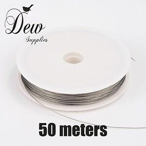 1 x 50 meter Tiger Tail wire Roll 0.45mm Stainless Spool Wire jewellery findings