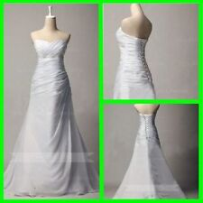 Beading A-Line Regular Size Sleeveless Wedding Dresses