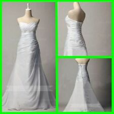 A-Line Plus Size Sleeveless Wedding Dresses