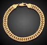 Goldkette breit 8MM dicke Armkette Armband Arm vergoldet für Männer Herrenkette