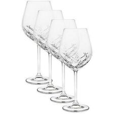 NEW Hand Cut Bevel Crystal Wine Glasses 19 oz (Set of 4) by Top Shelf Godinger