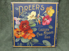 Dreers Garden Tea Room 1899 Canvas Flowers Painting Wall Decor