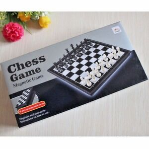 LARGE Magnetic folding CHESS board portable pieces GAME camping travel FUN ITEM