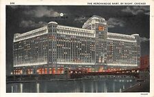 Illinois postcard Chicago Merchandise Mart by night