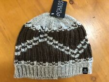 CHAOS Men's Chunky Knit Wool Blend Beanie Brown & Gray OSFM NWT Pack of 6
