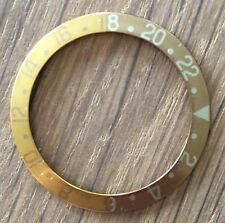VINTAGE FADED ROLEX GMT MASTER ROOT BEER BRONZE INSERT 1675 18K SS 16753 1970s