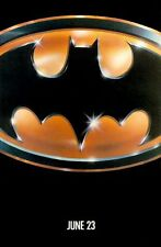 BATMAN ORIGINAL MINT ROLLED THEATRICAL ADVANCE STYLE 1 SHEET MOVIE POSTER 1989