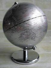 STUNNING STAINLESS STEEL BASE DESKTOP MINI ROTATING EARTH / GLOBE