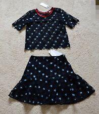 SANDRO Deia star-cutout woven top & Cannes Star Skirt Size 1 XS