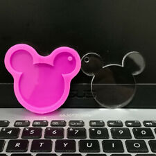 MICKEY MOUSE PENDANT SILICONE MOULD EPOXY RESIN SHINY MOLD KEYCHAIN HANGING TAG