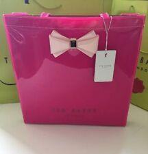 BNWT Ted Baker Designer Large Fuchsia Bow Icon Tote Bag/handbag