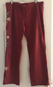 Lucky Brand Stretch Floral Cascade Sweatpants Lounge XL Extra Large