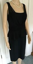 LAUREN RALPH LAUREN Black Cocktail Dress Sleeveless Lined Knee-Length SZ 12