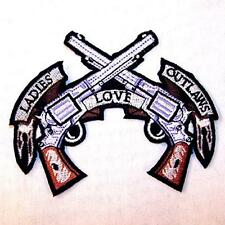 LADIES LOVE OUTLAWS EMBROIDERED PATCH P342  Iron on biker JACKET patches NEW