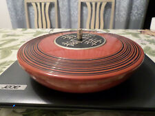 JAPANESE LACQUER WARE SAUCER AND CANDY CONTAINER