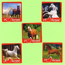 10 I Love Horses - Large Stickers - Party Favors - Rewards