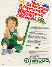 PUBLICITE ADVERTISING 054  1986  TERUMO    thermomètre éléctronique digital