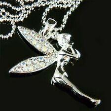 w Swarovski Crystal AB Fairy PIXIE Tinkerbell ANGEL Jewelry Pendant Necklace New