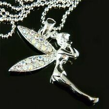 w Swarovski Crystal AB Fairy PIXIE Tinkerbell ANGEL Jewelry Pendant Necklace New