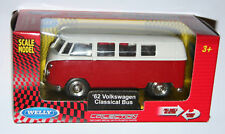 Welly - '62 Volkswagen VW Classical Bus (Red) Die Cast Model Scale 1/38