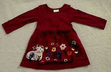 NWT Hanna Andersson Cat Floral Applique Art Girls Dress